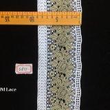 тесемка шнурка вышивки цветка 9cm толщиная прямая для Bridal ткани Hme877 вуали