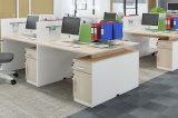 Customized 6 lugares de estação de trabalho de escritório com gavetas de arquivo compartimentos de computador