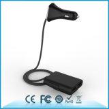 chargeur gauche de véhicule de place arrière du téléphone 4USB 9.6A avec le câble de 1.8m