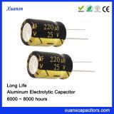 220UF 25V de condensadores electrolíticos de larga vida Manufdacturer