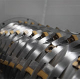 Пластмасса Shredding задавливающ систему Pelletizing