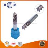 Alta precisión personalizada HRC45/55/60/65 3 Flautas recubiertas de carburo sólido fin Mill se utiliza en torno CNC para corte de alta velocidad