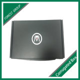 Boîte en carton ondulé noire mate d'impression pour l'expédition
