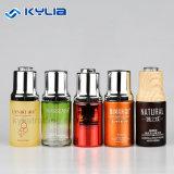 botella cosmética de cristal mate de madera del cuentagotas del petróleo esencial 30ml