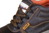 Schoenen van de Veiligheid van het Staal van de Schoenen van de Veiligheid van het Leer van de Koe van de Schoenen van de Veiligheid van de Teen van het Staal van goedkoopste Mensen de Gespleten Zwarte