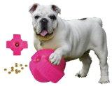 شامل أولى [لونش-سمرت] فينيل إطار العجلة كلب متعة [بلّ-بينك] طبق
