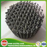 Metallineinander greifen runzelt strukturierte Verpackung