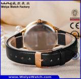 주문 형식 가죽끈 한 쌍 석영 손목 시계 (WY-P17010A)