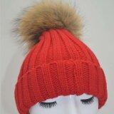 Шарик меха животных Red Hat мягкие трикотажные POM Red Hat Beanies Raccoon