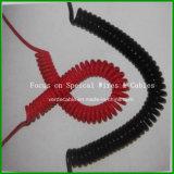 Fio isolado PVC resistente UV da mola do cabo Coiled de RoHS