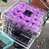 Dirigir da caixa desobstruída das rosas do Sell caixas acrílicas da flor para a flor preservada