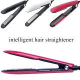 Straightener inteligente do cabelo do ferro liso reto rápido profissional com o Straightener e o encrespador cerâmicos Titanium do cabelo dos dentes do pente