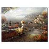 Pitture a olio mediterranee dell'Italia della pittura a olio di paesaggio