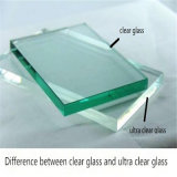 vidrio ultra claro del vidrio/flotador de 22m m/vidrio claro para el edificio