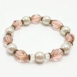 Bijouterie de fantaisie Fashion Crystal Bead Pearl Bracelet Bijoux