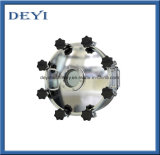 400mm 스테인리스 죔쇠 유형 종결을%s 가진 위생 원형 맨홀 뚜껑