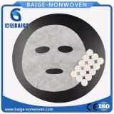 Feuille faciale de masque de coton comprimé
