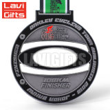 Medalha BRITÂNICA do esporte da concessão do campeonato da motocicleta do esmalte macio feito sob encomenda da promoção