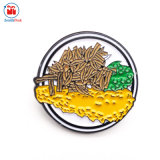 1,5 polegadas Flower Round Pin na lapela Barato preço