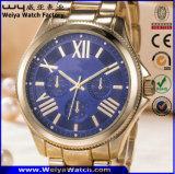 남자 (WY-17005B)를 위한 주문 로고 석영 남자의 손목시계 유리 스위스 손목