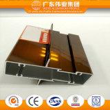 Profilo di alluminio di marca di Weiye per la finestra ed il portello di scivolamento