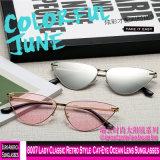 8007 Lady clássico estilo retro Oceano Cat-Eye óculos de sol de lente