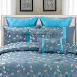 大人の寝具セットのための100%年のポリエステルか綿の青いジャカード