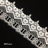 lacet de bande de lacet de 7.5cm pour la robe de mariage avec la lame et les glands mignons Hmw6227 de fleur