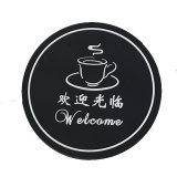 Conception en PVC dur Coaster avec logo promotionnel/caoutchouc Tapis de coupe