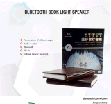 適用範囲が広い小型多彩な卓上スタンドLED木のBluetoothの本ライトスピーカー