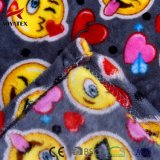 100% de poliéster impresso Emoji Coral Fleece Bonitinha Manta de bebé