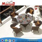 工場屋外の余暇の家具の枝編み細工品または藤の椅子及びダイニングテーブル