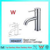 Fabricado na China e marca de Wels Sanitária único nível Casa Redonda Bacia de latão Toque (HD4237)