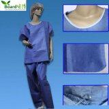 Avaiable azul/roxo uniforme médico não tecido descartável cirúrgico esfrega o vestido do paciente dos ternos