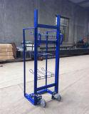 Fußboden-Typ entfernbare Metallbildschirmanzeige-Zahnstange mit Rädern