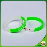 Heißer Verkauf segmentiertes Farbegummiwristband-kundenspezifisches Silikon-Armband