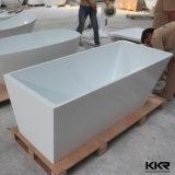 Fabricado en China sin apoyos de hidromasaje bañera de piedra