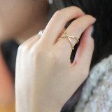 La mujer aro de acero inoxidable de la moda de joyería Anillo de dedo
