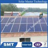태양 전지판을 지붕을 다는 광전지 도와 루핑 시스템 도와는 설치를 일괄한다