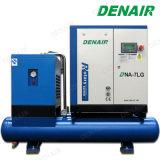 Intero compressore d'aria rotativo Integrated della vite con la ricevente e l'essiccatore