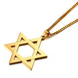 De Halsband van het Roestvrij staal van Mogen David Jewelry van de Manier van de Gift van de bevordering