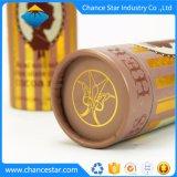 Feuille d'impression Couleur personnalisée emballage du papier pour le cacao du tube de plumes