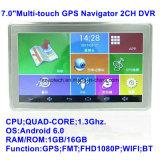 """Novo 7.0"""" Carro Tablet PC com carro Navation GPS, SO Android, Full HD1080p carro DVR, AV-na câmara de Estacionamento, aluguer de caixa preta; Interna Sensor G pré-carregado APP& Mapa"""