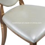 現代ステンレス製の金の楕円形のステンレス鋼の結婚式の椅子