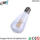 Luz moderna do filamento do diodo emissor de luz do estilo 5W E26 E27 do uso Home