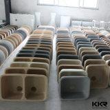 Dissipador de cozinha artificial de Undermount da bacia do dobro da pedra da resina