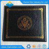 Van de douane de Lege van het Leer Zwarte Houder van het Pu- Certificaat voor Verkoop