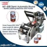 Máquina de etiquetado semiautomática de la botella redonda para la salsa del atasco (MT-50B)