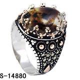 Anello rosso d'argento degli uomini dell'agata dei nuovi modelli 925