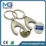 Keyring personalizado da moeda do trole, suporte de compra da moeda do trole, moeda do transportador com Keyring